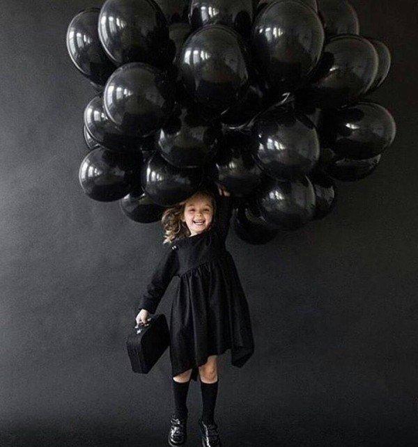 Облако Черные шары Большие 100 шт
