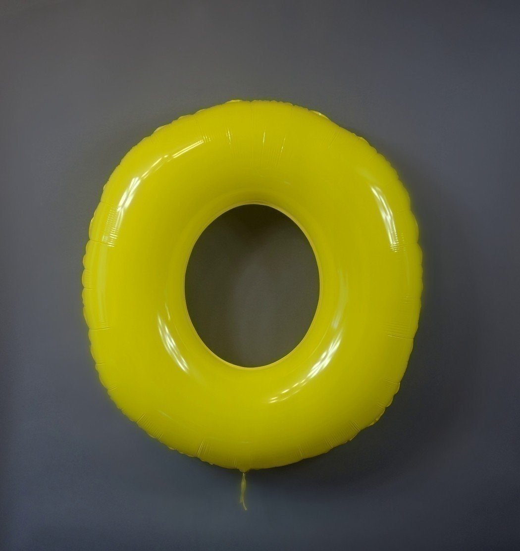 Шар цифра 0 Яркий Желтый