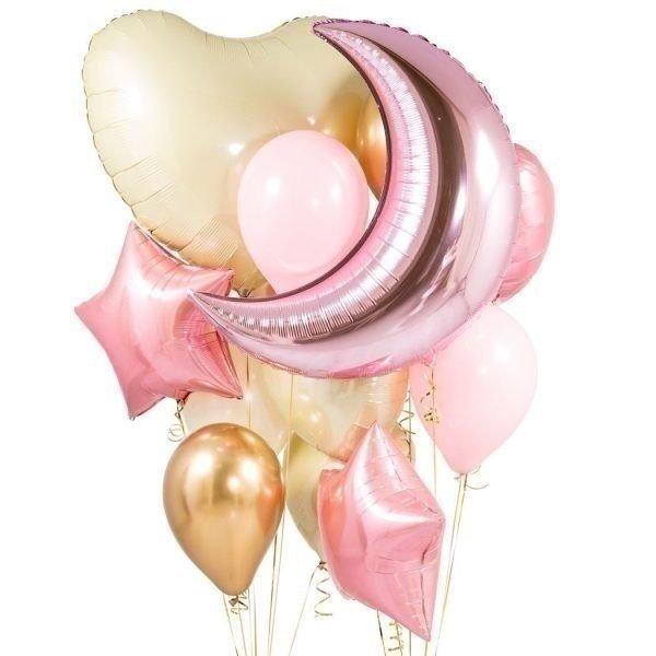 Букет из шаров BABY PINK