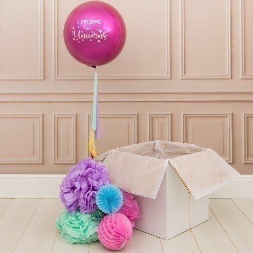 Коробка с шарами «Я верю в единорогов»
