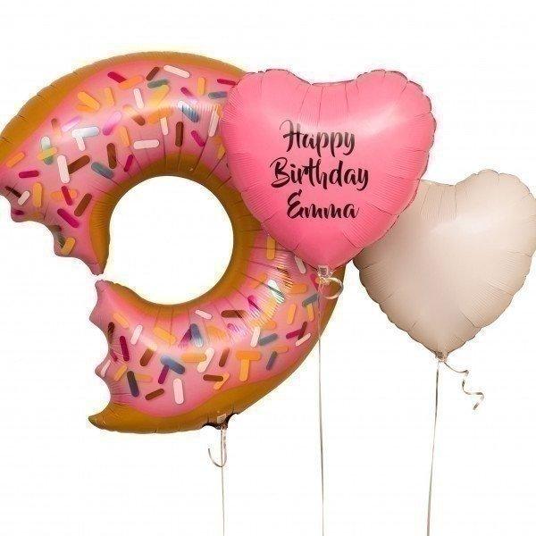 Букет из шаров «Пончик на день рождения»
