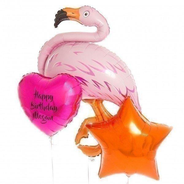 Букет из шаров «Фламинго на день рождения»