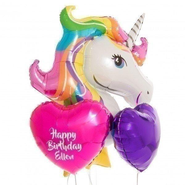 Букет из шаров «Единорог на день рождения» разноцветный
