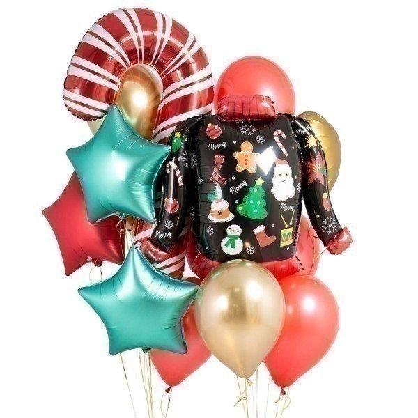 Букет из шаров «Рождественский свитер»