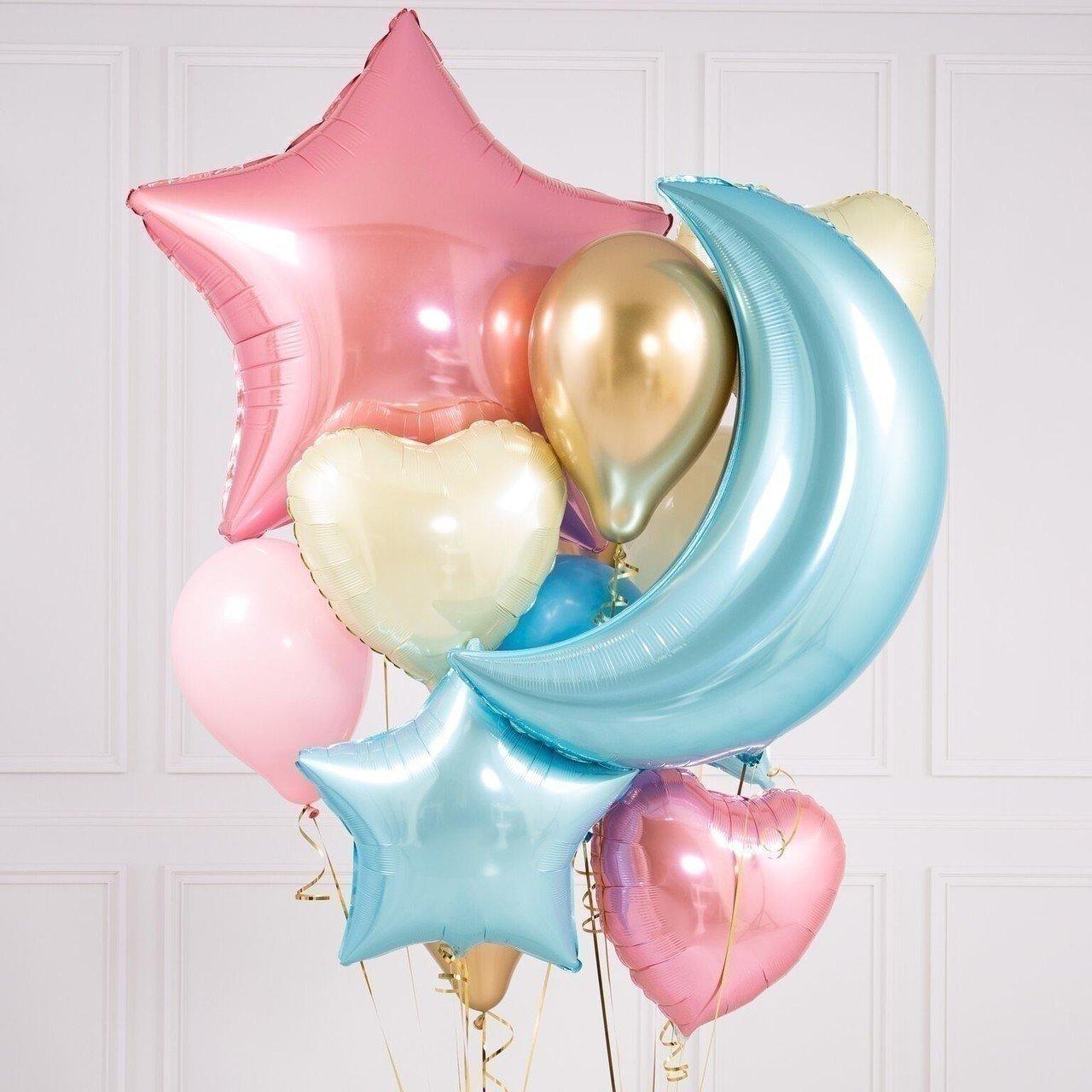 Букет из шаров «Цветное небо»