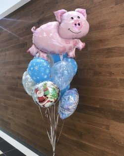 Букет из шаров Свинка