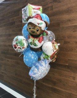 Букет из шаров Новогодние персонажи