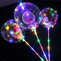 Светящиеся Шары Bubble (Баблс-Бобо) с игрушкой со светящей лентой на палочке