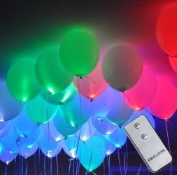 Светящиеся шары с пультом 100 шт