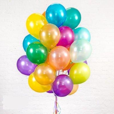 Облако шариков Ассорти металлик большие 25 шт