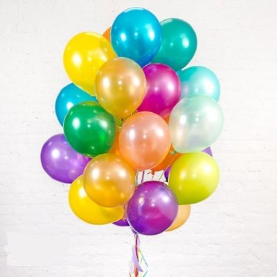 Облако шариков Ассорти металлик большие 100 шт