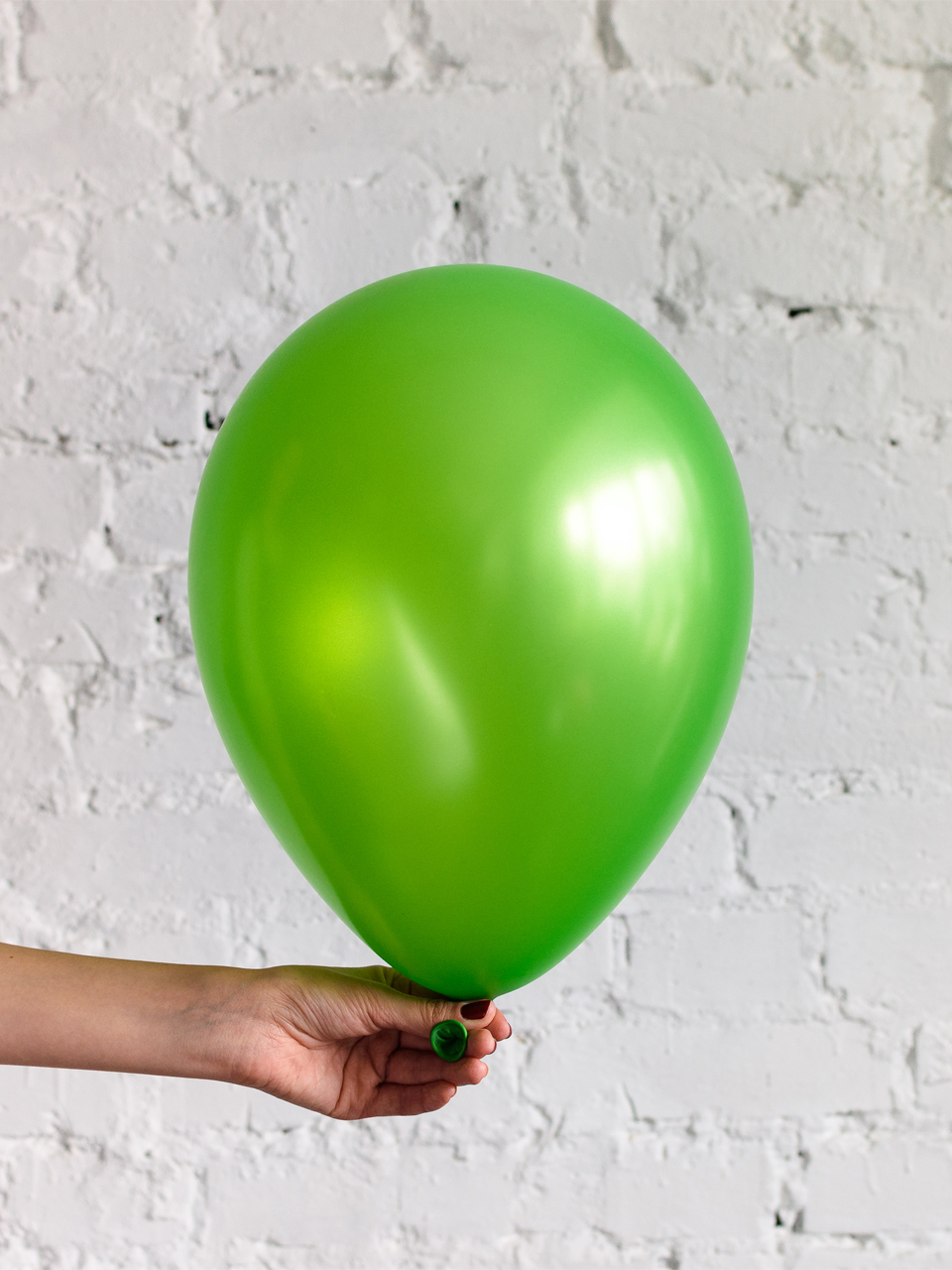 Шар ярко-зелёный металлик