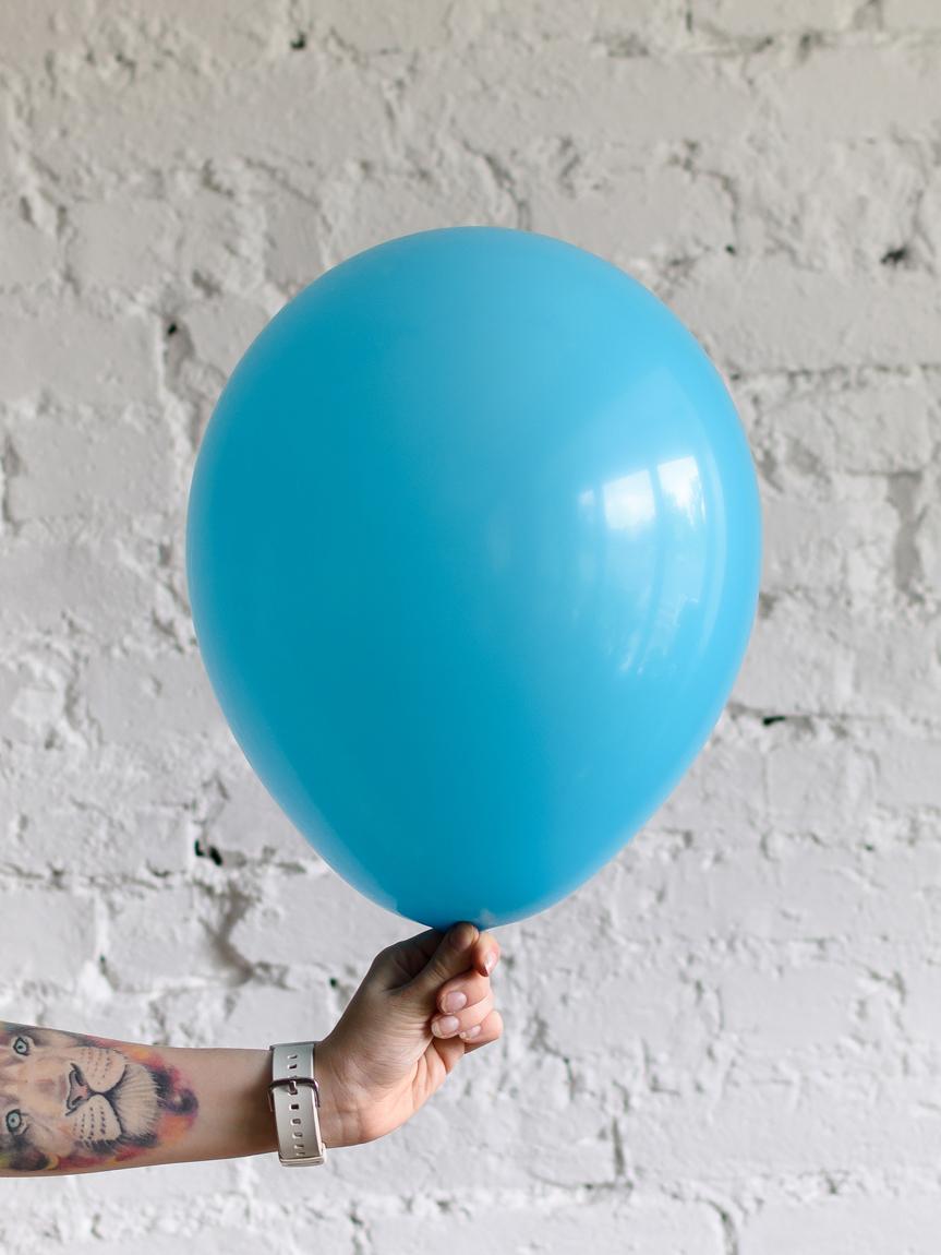 Шар бирюзово-голубой матовый