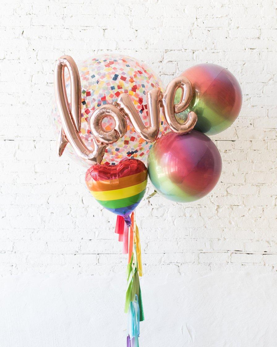 Большие шары Радуга LOVE