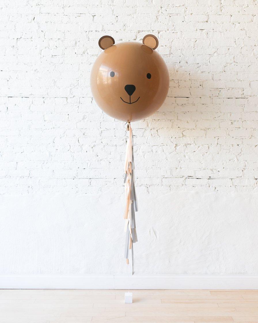 Большой шар Медведь на гирлянде