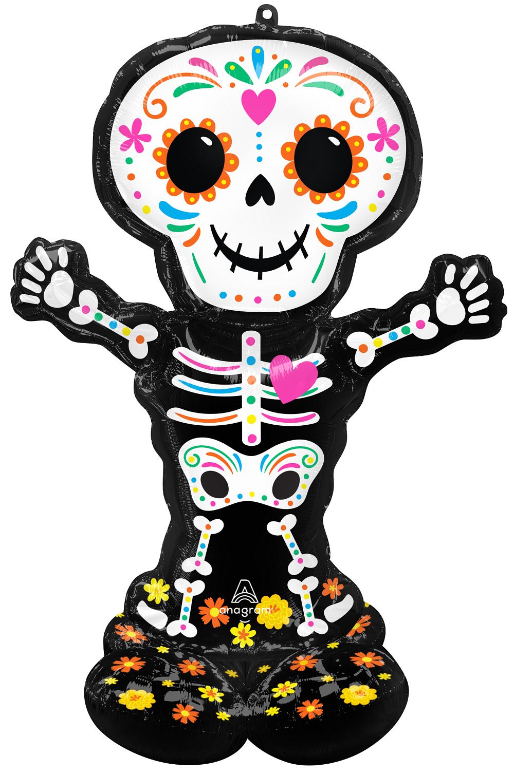 Ходячий шар Скелет День Мертвых
