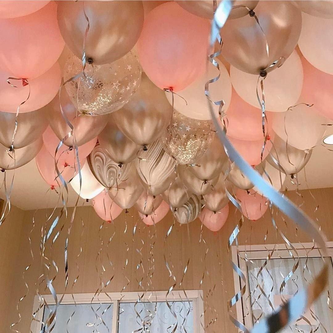 Шары под потолок на Ванильные Грёзы  35 см, 15 шт