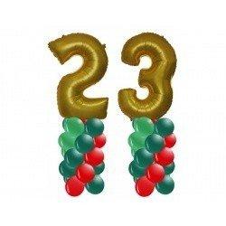 2 стойки с цифрами