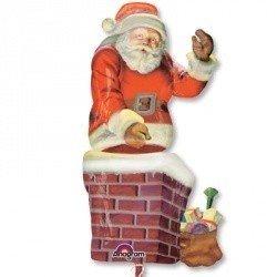 Шар-фигура Санта в трубе