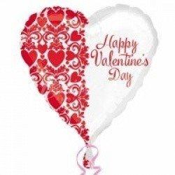 Сердце бело-красное Валентинов День