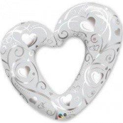 Сердце Вензель серебро