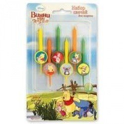 Свечи для торта Disney Винни и друзья 6шт