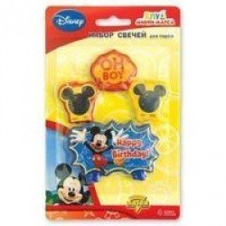 Свечи для торта Disney Микки Маус 4 шт
