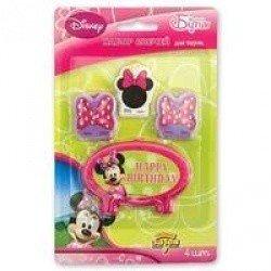 Свечи для торта Disney Минни Маус 4 шт