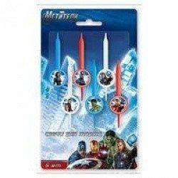 Свечи для торта Marvel Мстители 6 штук