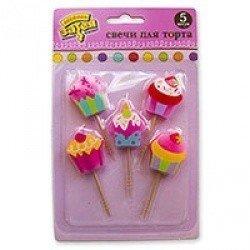 Свечи на пиках Сладкий Праздник 5 штук