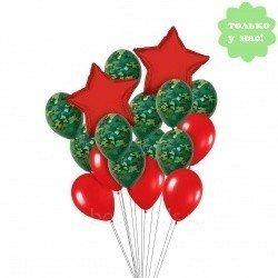 Букет из шаров Красные звезды