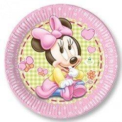 Тарелки большие Малышка Минни 8 штук