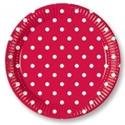 Тарелки Горошек красный 10 штук
