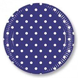 Тарелки Горошек синий 8 штук