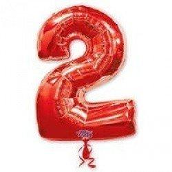 Шар фигура цифра 2 Red