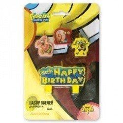 свечи для торта Губка Боб 4 штуки