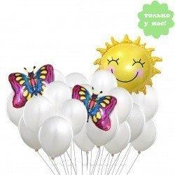 Букет из шаров С днем рождения, Солнце