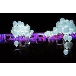 Светящиеся шарики белые  25 шт (постоянная подсветка)