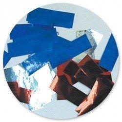 Конфети фольга бел/син/красн 500 грамм