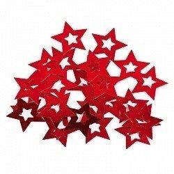 Конфетти звезда в звезде красные 17гр
