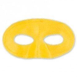 Полумаска атлас желтая