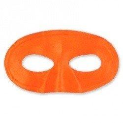 Полумаска атлас оранжевая