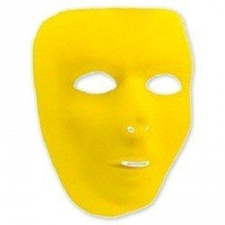 Маска пластиковая желтая