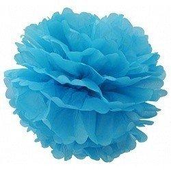 Помпон Голубой 20 см