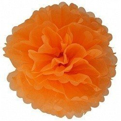 Помпон Оранжевый 20 см