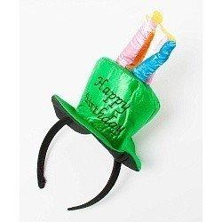 Ободок Зеленая шляпка со свечами Happy birthday