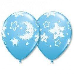 Облако шаров Луна и Звезды 25 шт