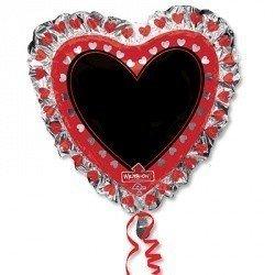 Шар фигура Сердце с маркером