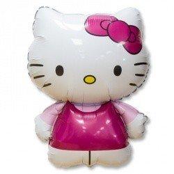 Шар фигура Hello Kitty розовая