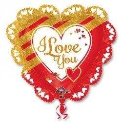 Шар LOVE Золотое и красное